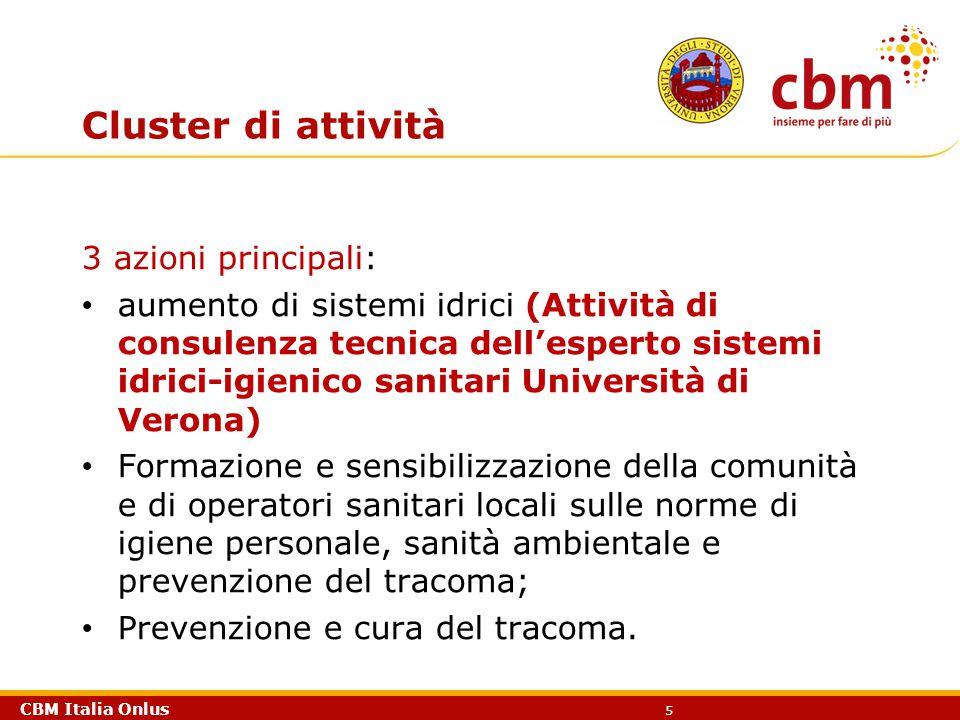 Cluster di attività 3 azioni principali: