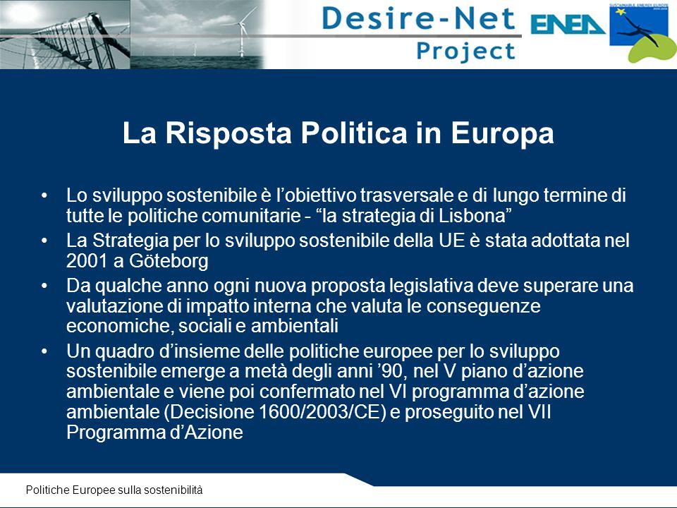 La Risposta Politica in Europa
