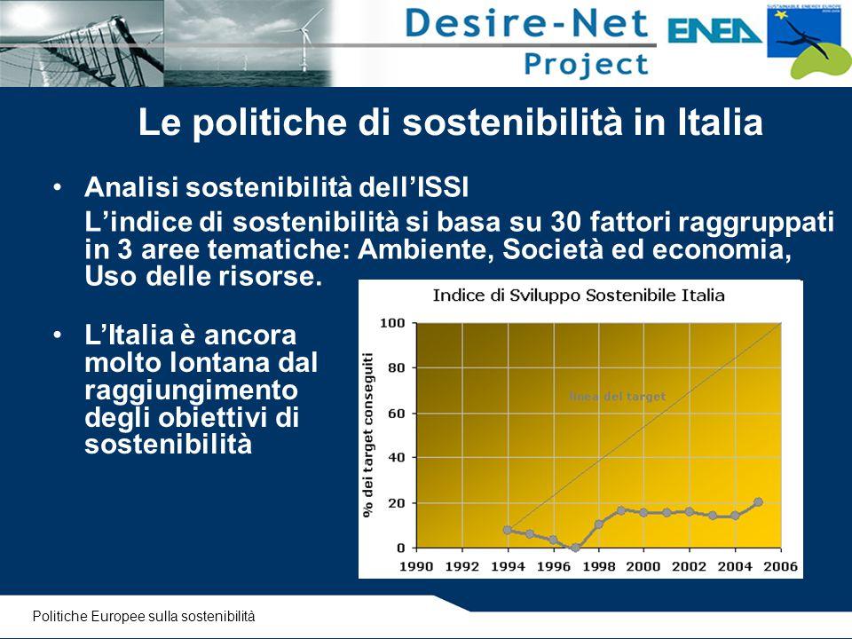 Le politiche di sostenibilità in Italia