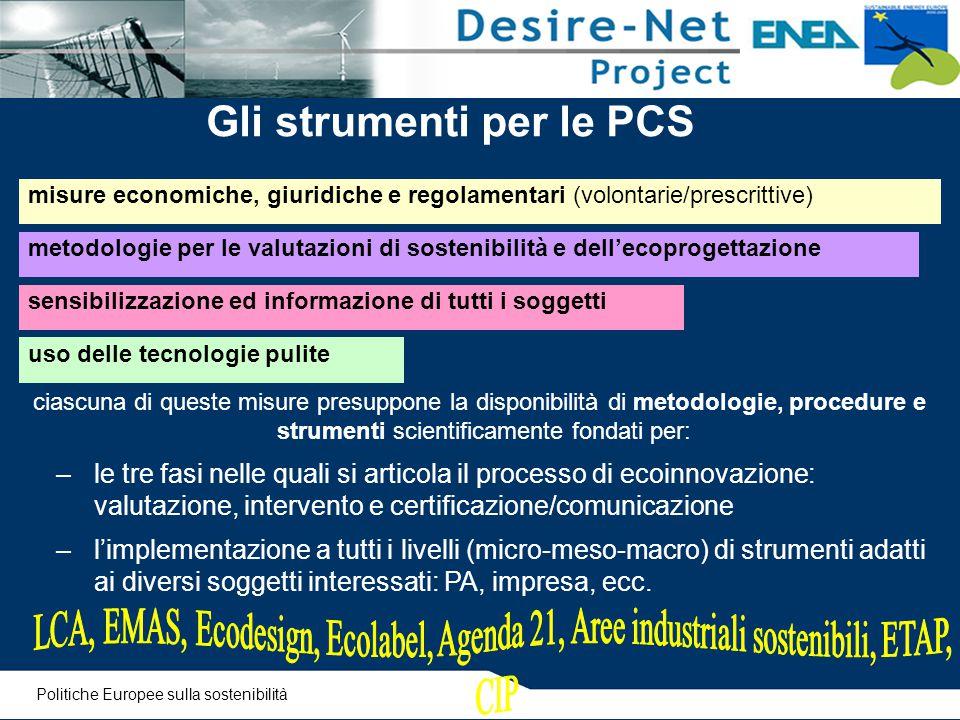 Gli strumenti per le PCS