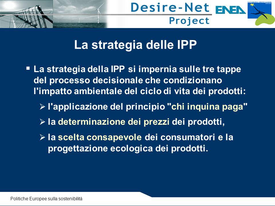 La strategia delle IPP