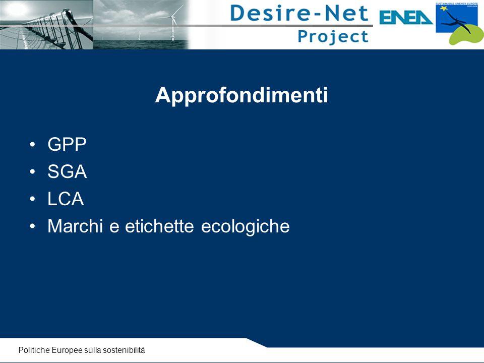 Approfondimenti GPP SGA LCA Marchi e etichette ecologiche