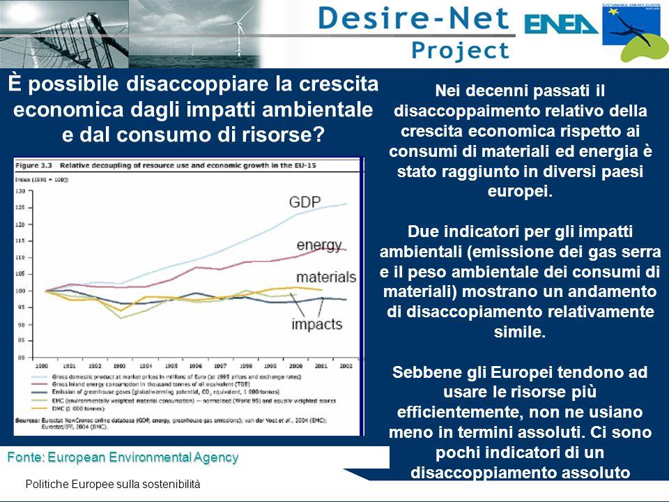 È possibile disaccoppiare la crescita economica dagli impatti ambientale e dal consumo di risorse