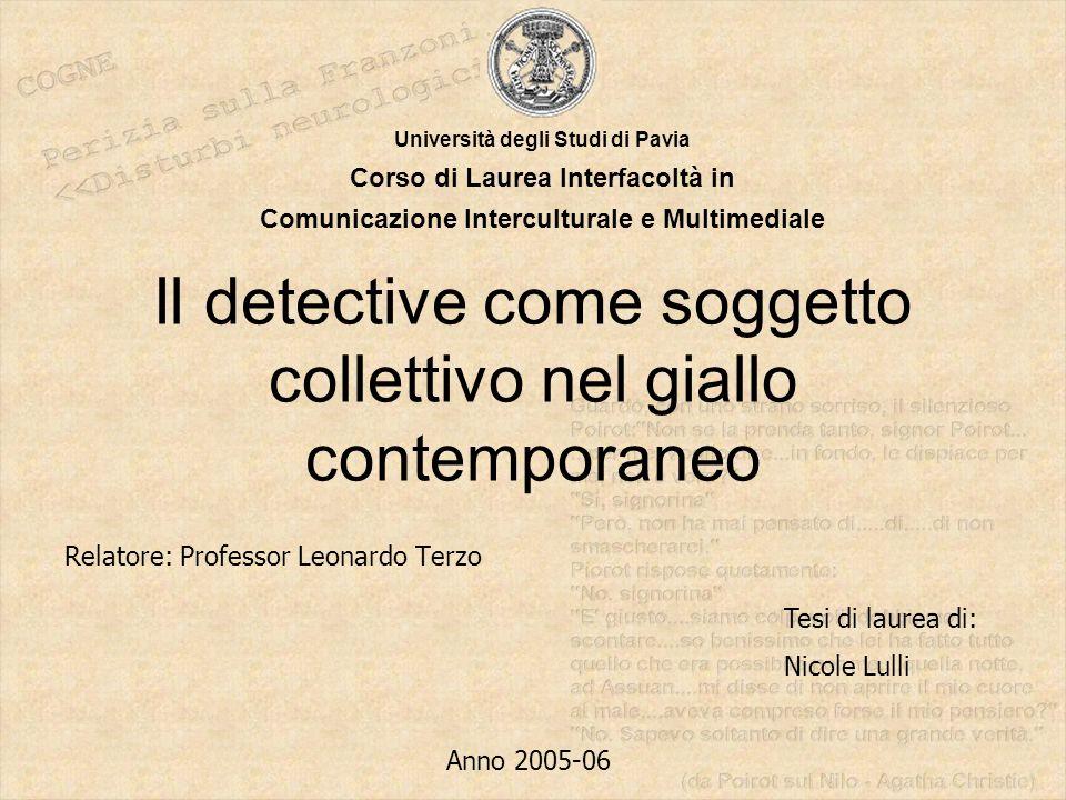 Il detective come soggetto collettivo nel giallo contemporaneo