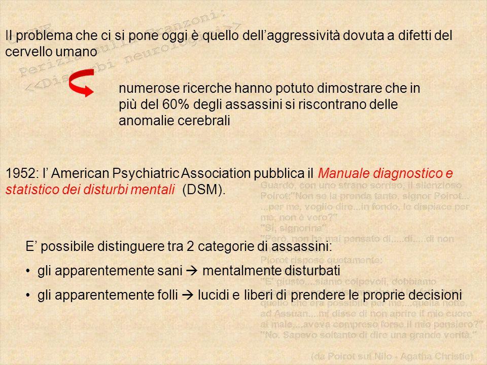 Il problema che ci si pone oggi è quello dell'aggressività dovuta a difetti del cervello umano