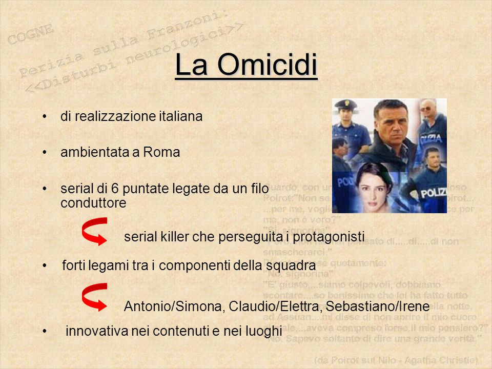 La Omicidi di realizzazione italiana ambientata a Roma