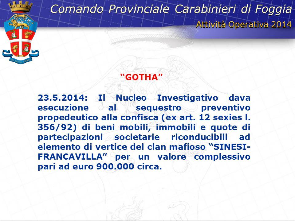 Comando provinciale carabinieri di foggia ppt scaricare for Mobili 900 cerignola