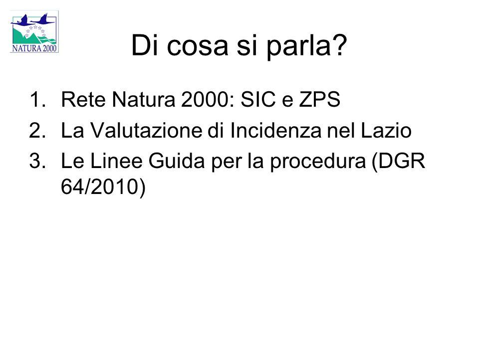 Di cosa si parla Rete Natura 2000: SIC e ZPS