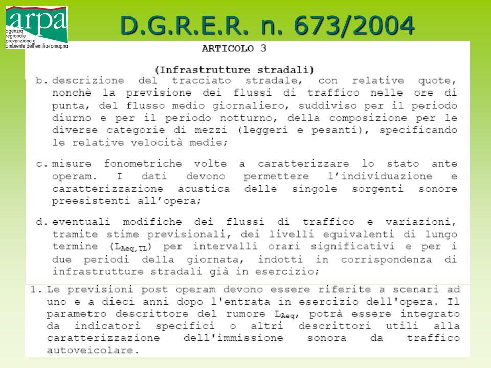 D.G.R.E.R. n. 673/2004
