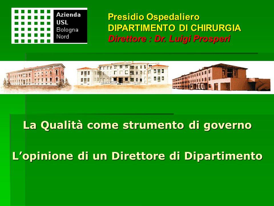 La Qualità come strumento di governo