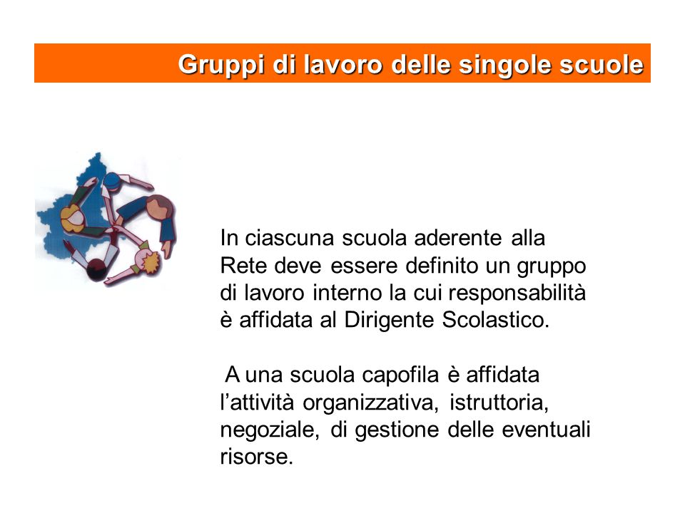 Gruppi di lavoro delle singole scuole