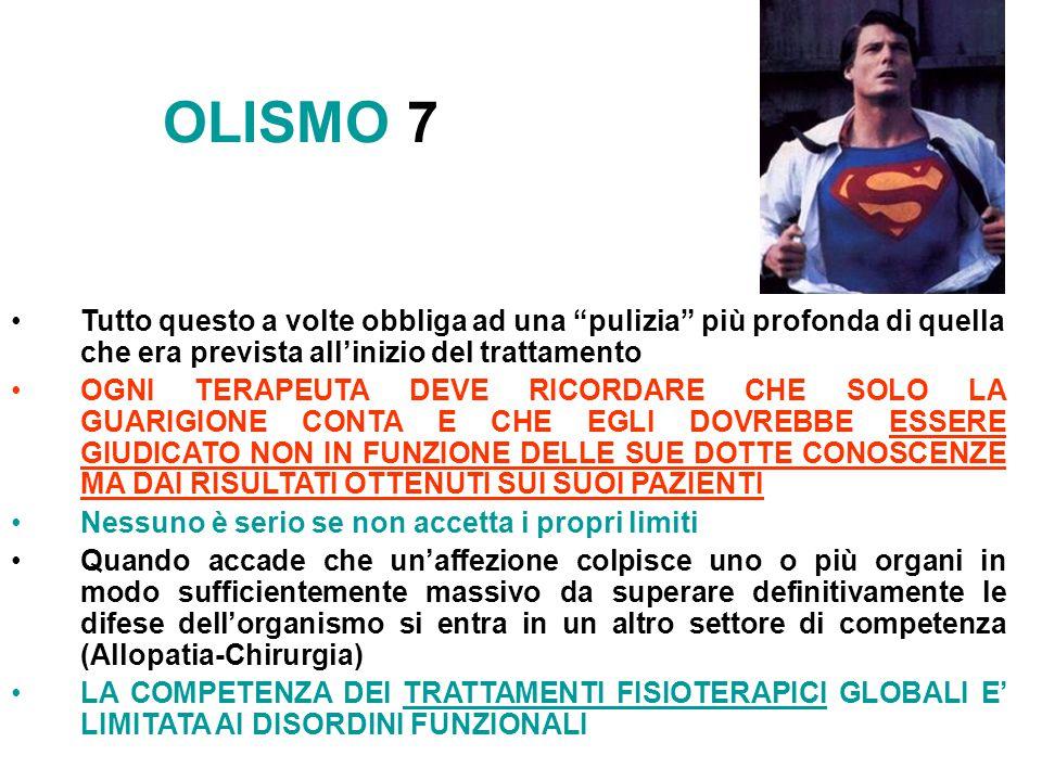OLISMO 7 Tutto questo a volte obbliga ad una pulizia più profonda di quella che era prevista all'inizio del trattamento.