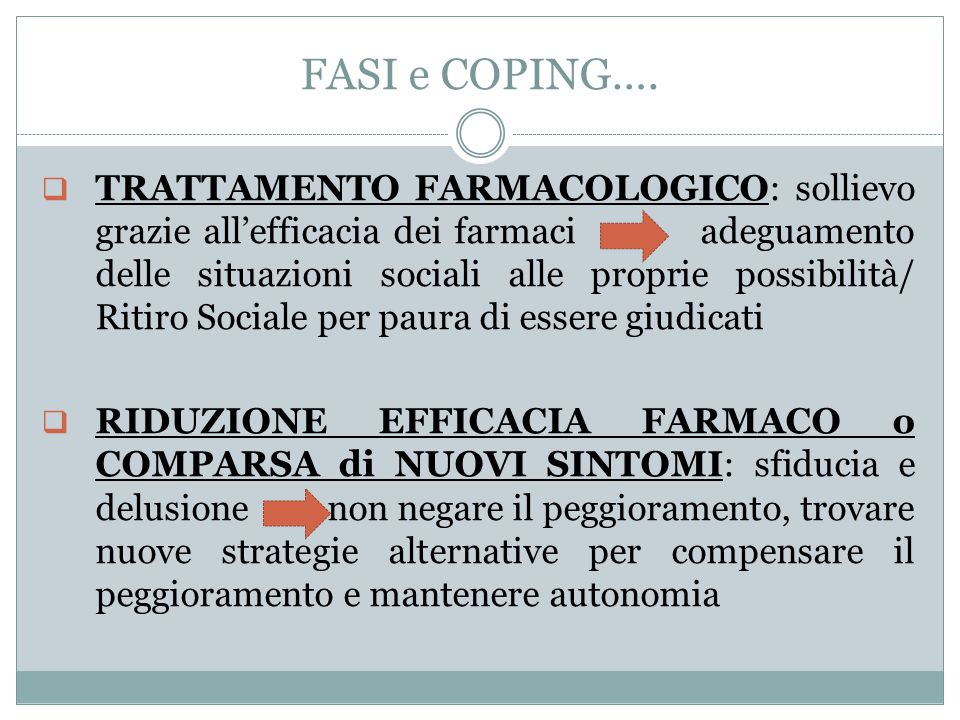 FASI e COPING….