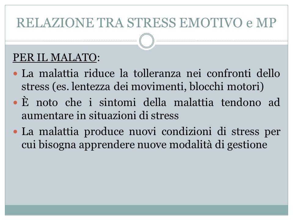 RELAZIONE TRA STRESS EMOTIVO e MP