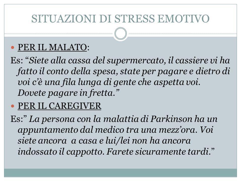 SITUAZIONI DI STRESS EMOTIVO