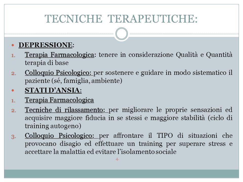 TECNICHE TERAPEUTICHE:
