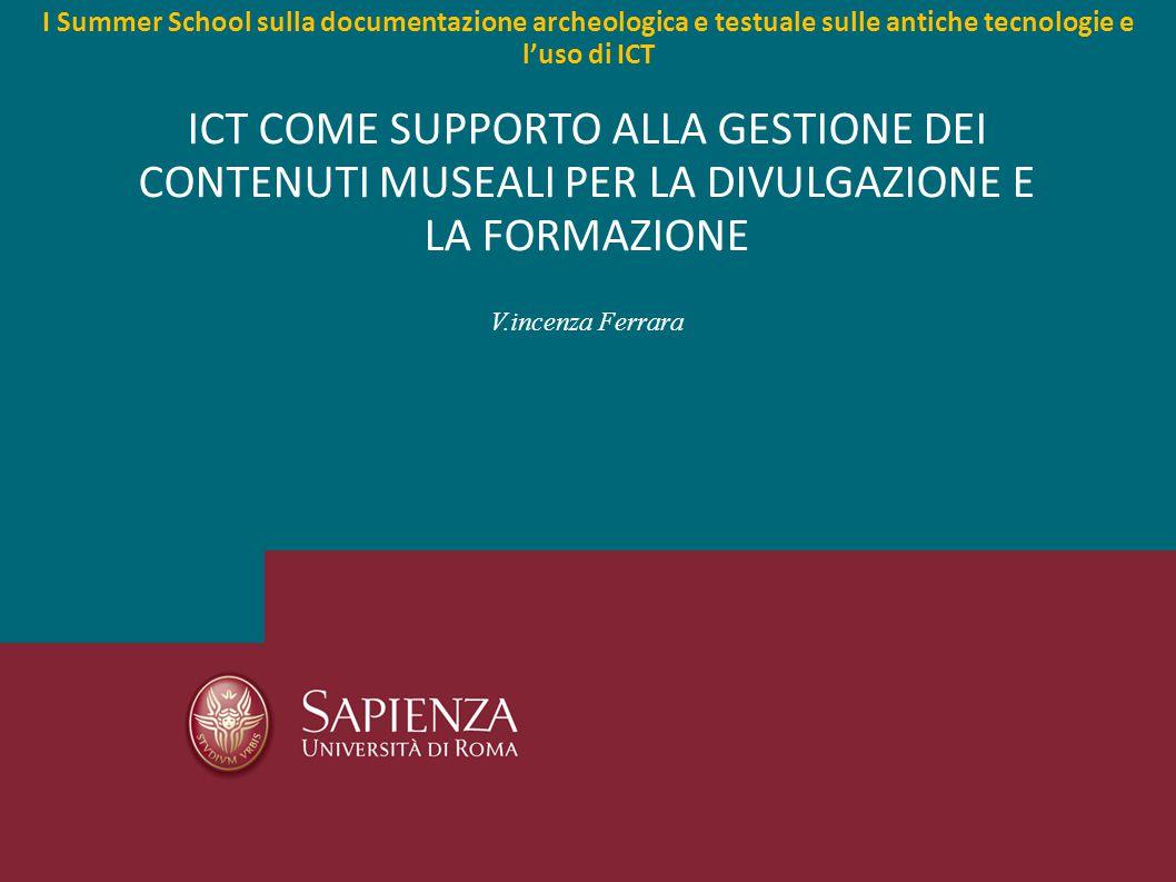 Tecnologie per la promozione e la valorizzazione del patrimonio culturale - Vincenza Ferrara