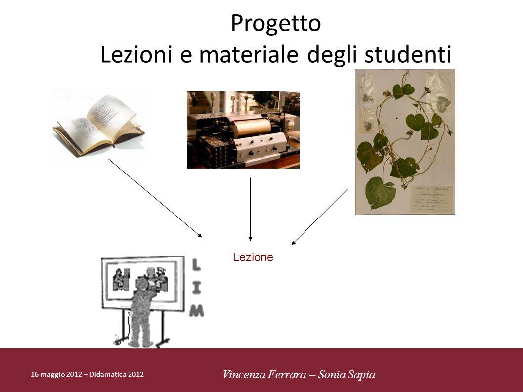 Lezioni e materiale degli studenti