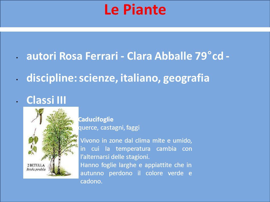 Le Piante autori Rosa Ferrari - Clara Abballe 79°cd -