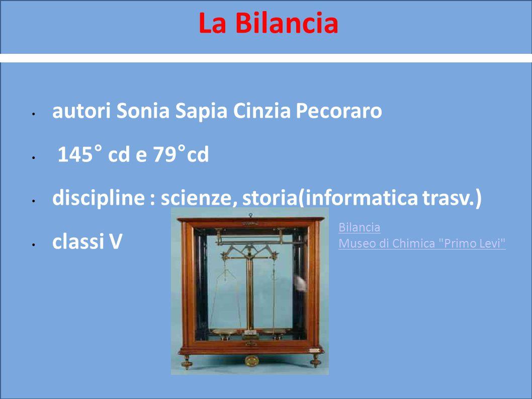 La Bilancia autori Sonia Sapia Cinzia Pecoraro 145° cd e 79°cd