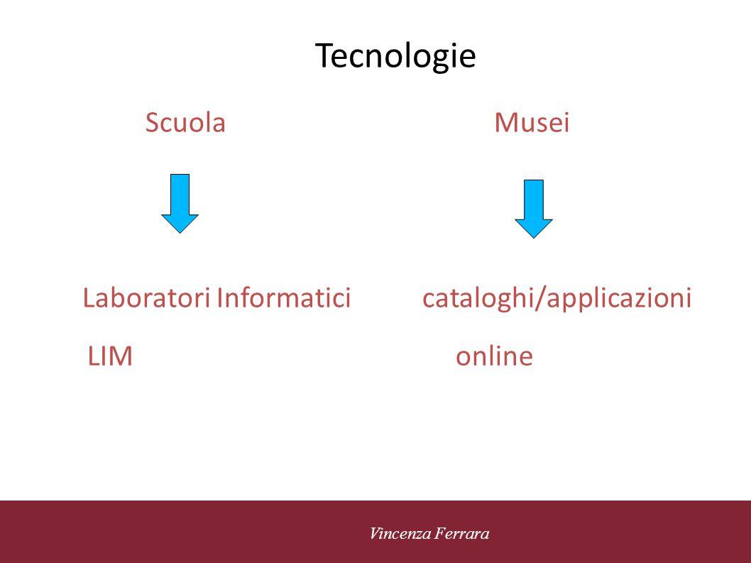 Tecnologie Scuola Musei Laboratori Informatici cataloghi/applicazioni