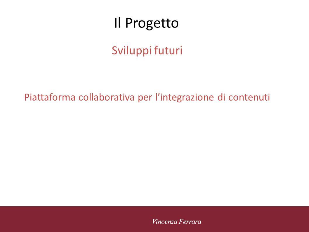 Piattaforma collaborativa per l'integrazione di contenuti