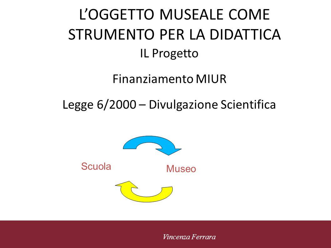 L'OGGETTO MUSEALE COME STRUMENTO PER LA DIDATTICA