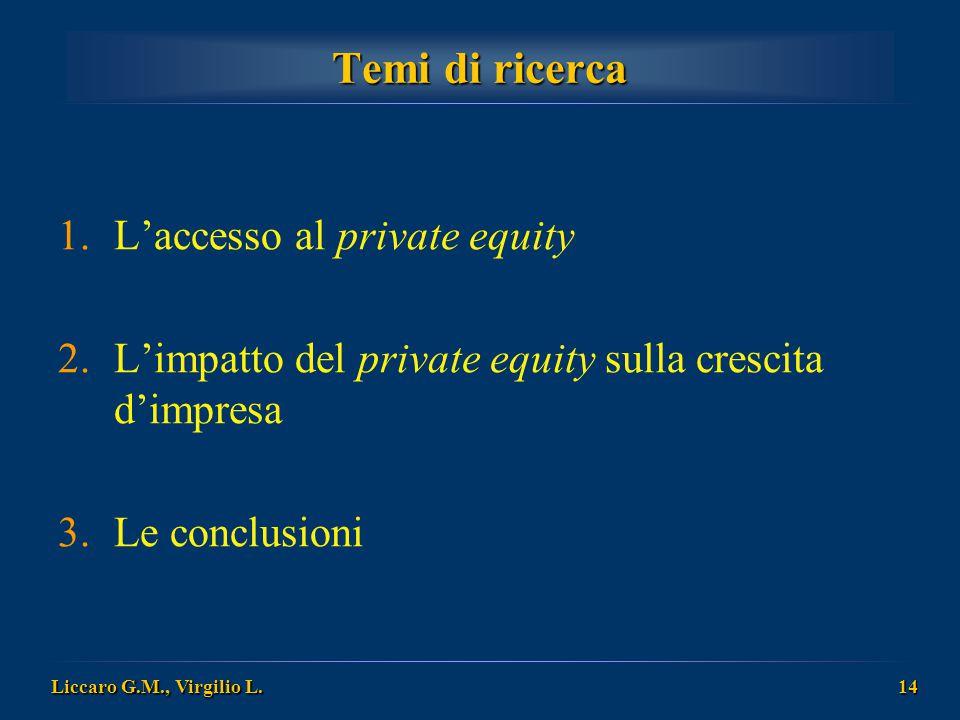 Temi di ricerca L'accesso al private equity