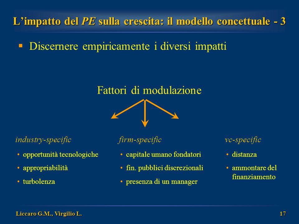 L'impatto del PE sulla crescita: il modello concettuale - 3