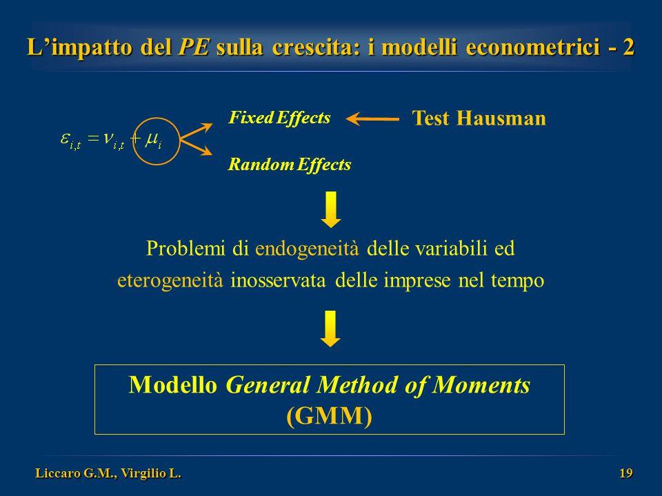 L'impatto del PE sulla crescita: i modelli econometrici - 2