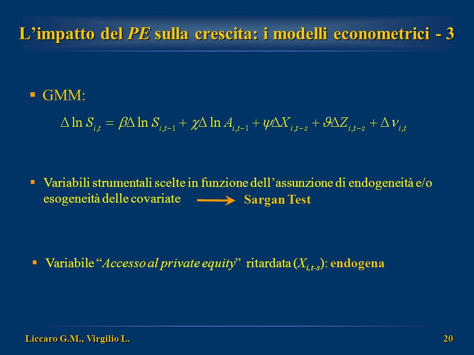 L'impatto del PE sulla crescita: i modelli econometrici - 3