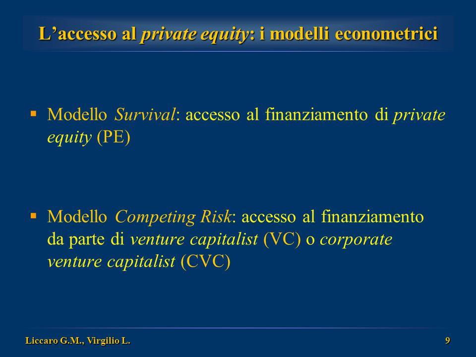 L'accesso al private equity: i modelli econometrici