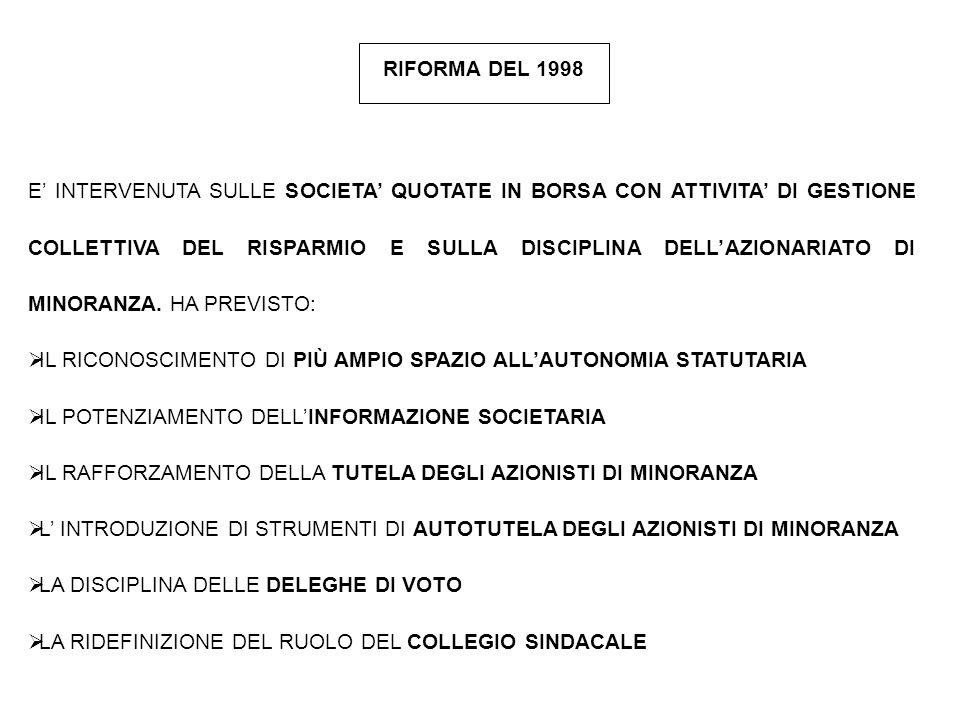RIFORMA DEL 1998