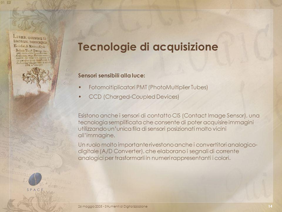 Tecnologie di acquisizione