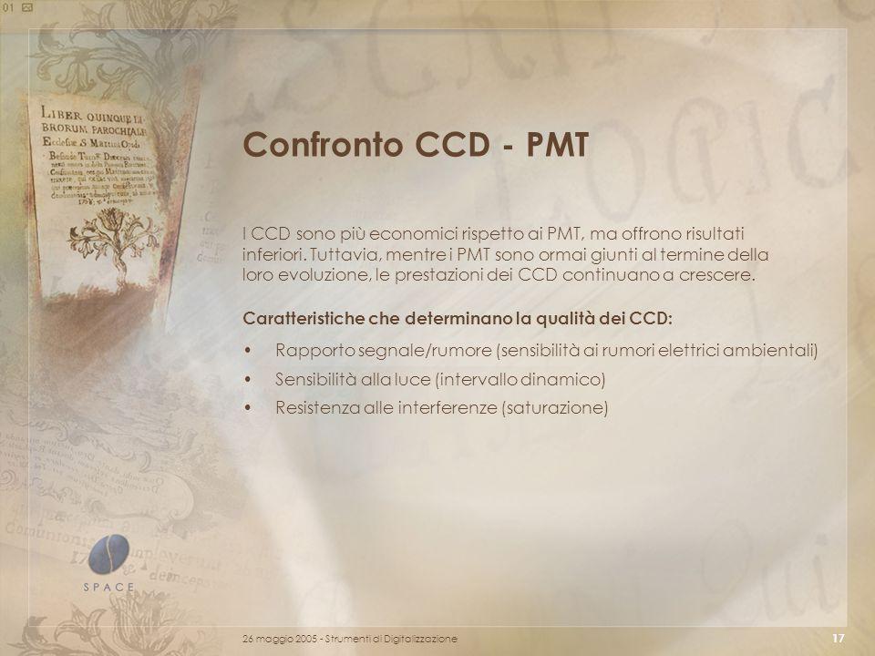 Confronto CCD - PMT