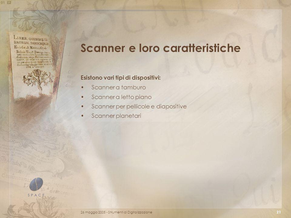 Scanner e loro caratteristiche