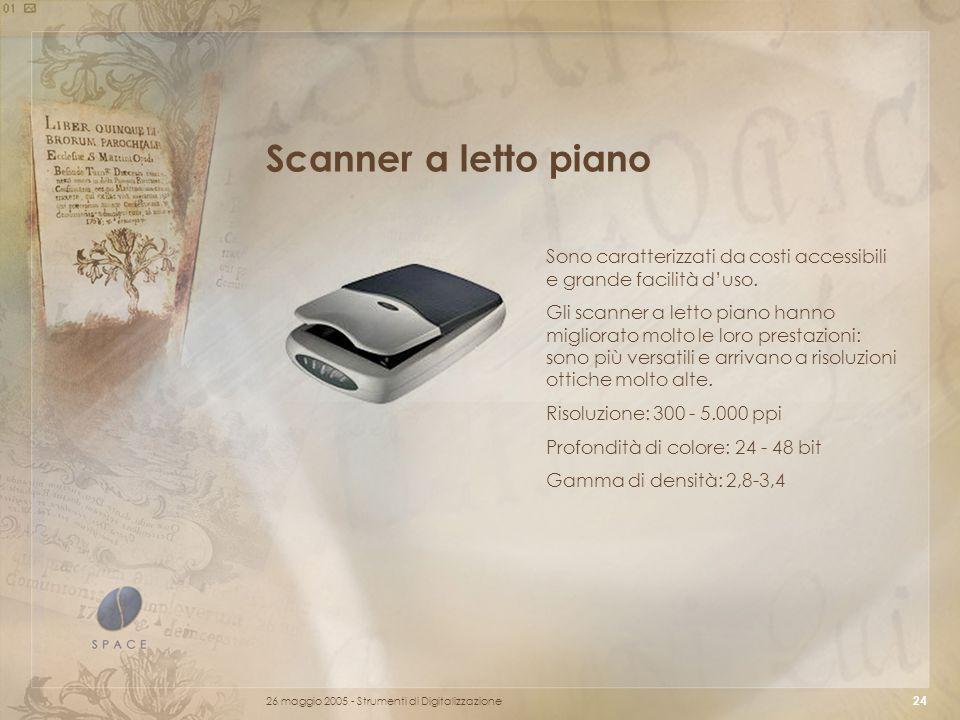 Scanner a letto piano Sono caratterizzati da costi accessibili e grande facilità d'uso.