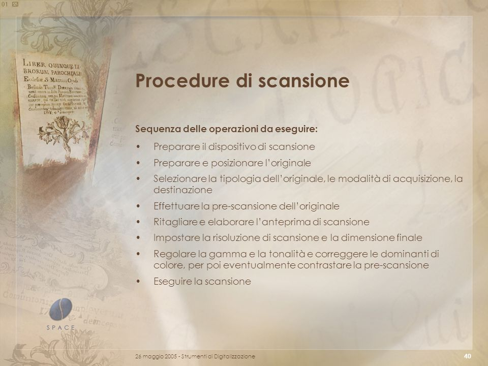 Procedure di scansione
