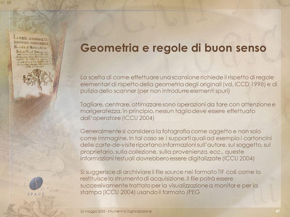 Geometria e regole di buon senso