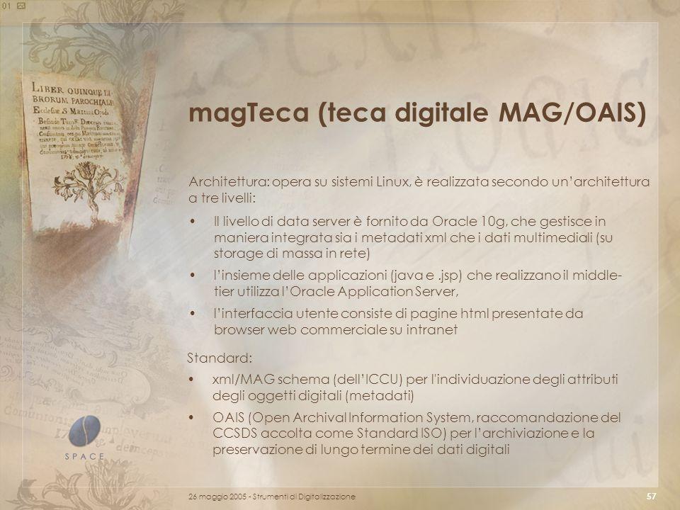 magTeca (teca digitale MAG/OAIS)