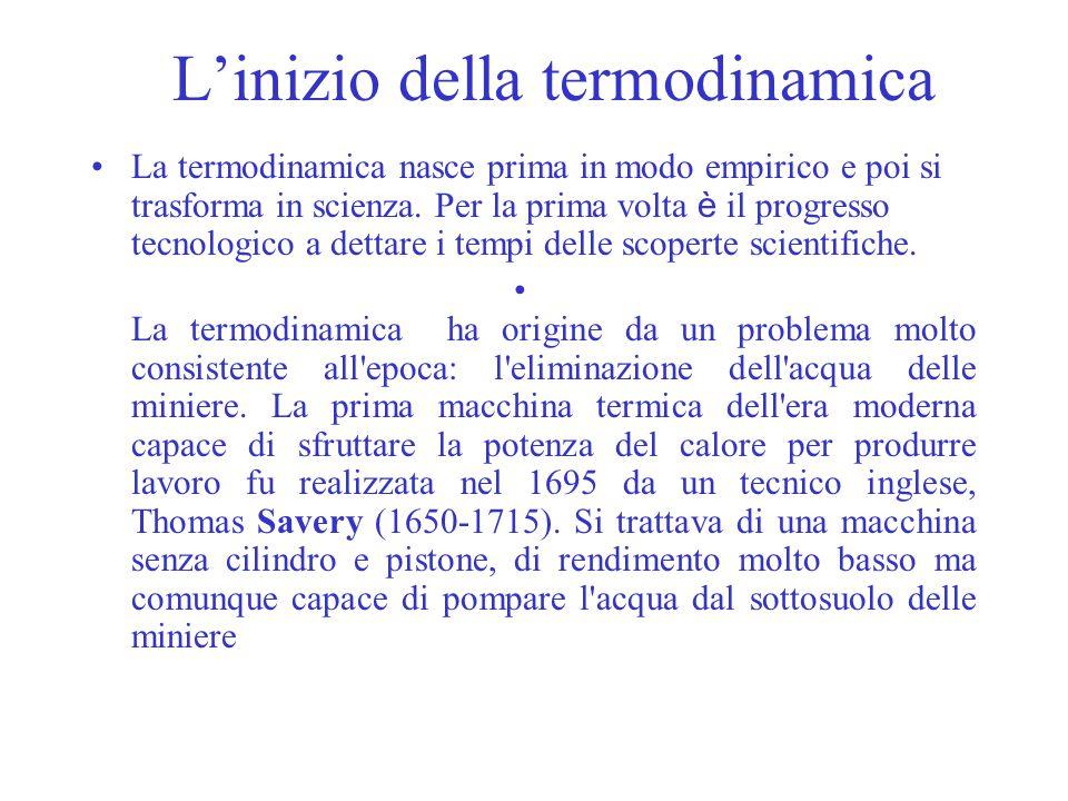 L'inizio della termodinamica