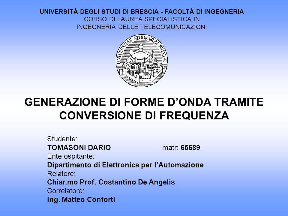 GENERAZIONE DI FORME D'ONDA TRAMITE CONVERSIONE DI FREQUENZA