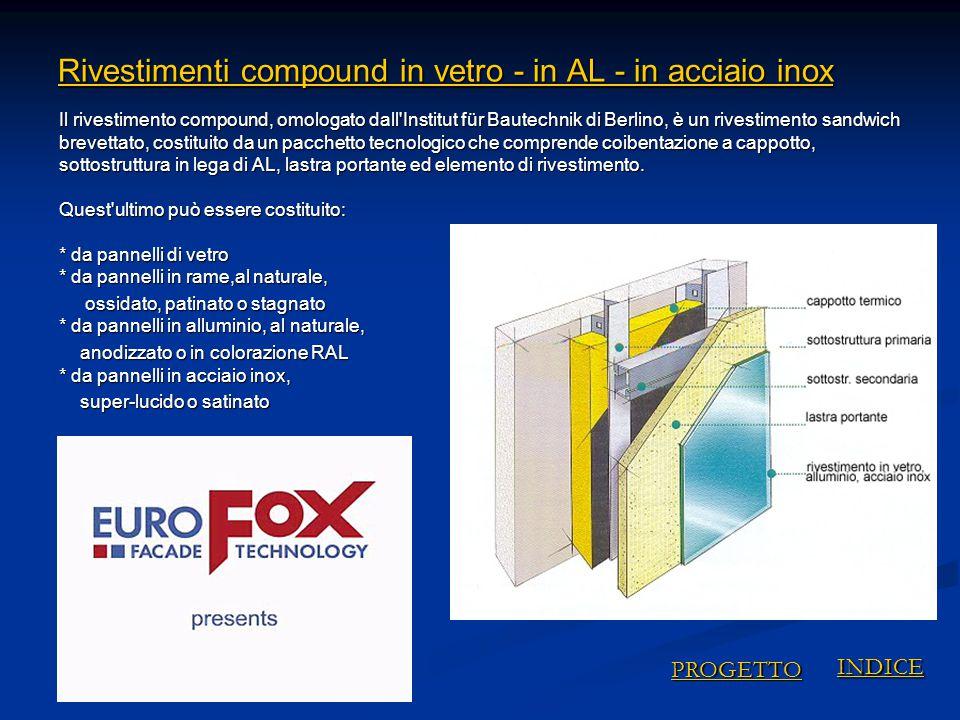 Rivestimenti compound in vetro - in AL - in acciaio inox