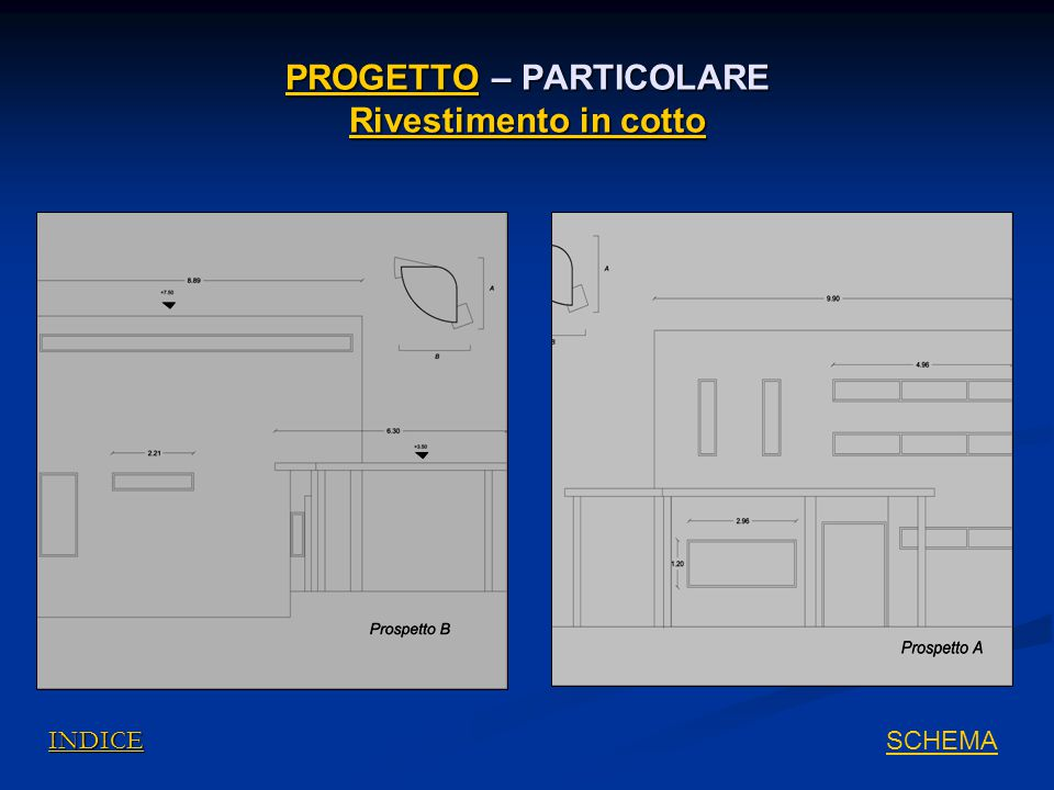PROGETTO – PARTICOLARE Rivestimento in cotto
