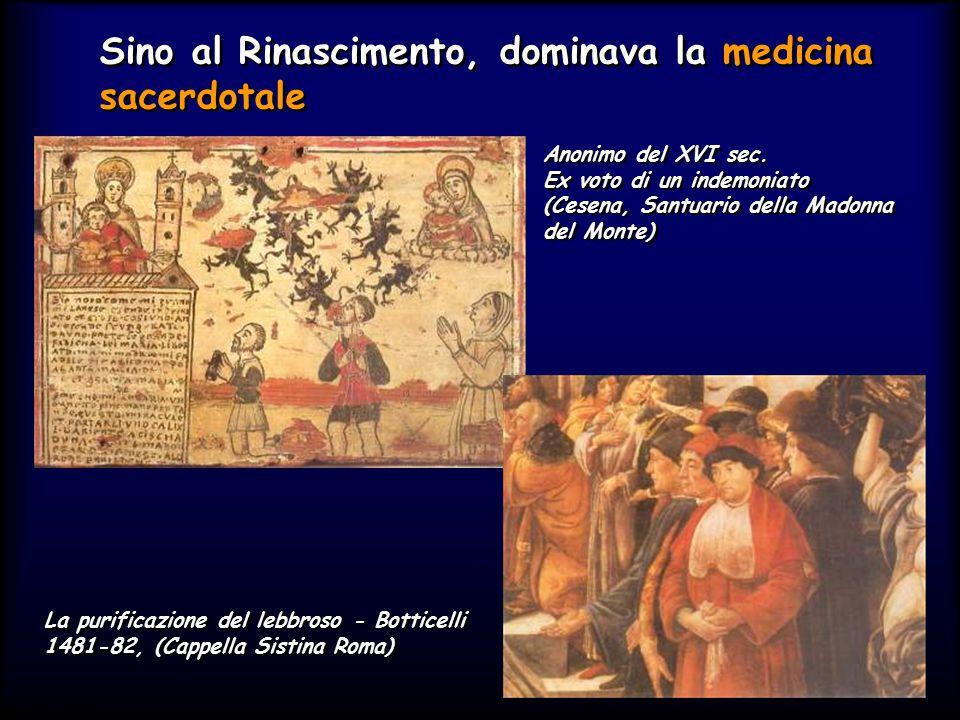 Sino al Rinascimento, dominava la medicina sacerdotale