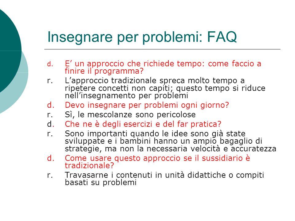 Insegnare per problemi: FAQ