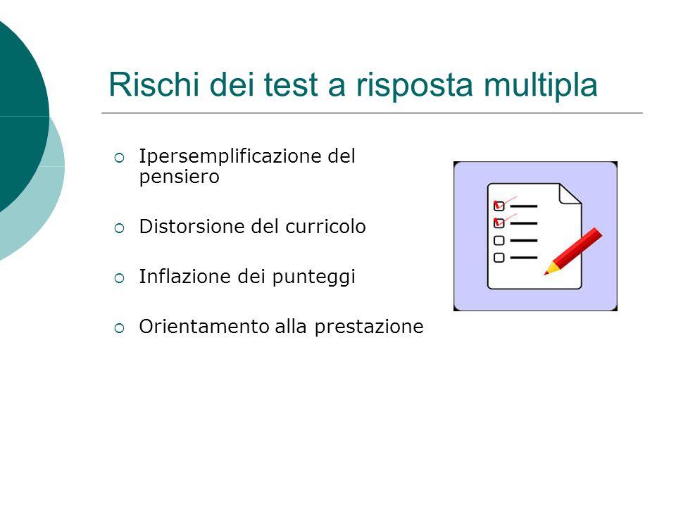 Rischi dei test a risposta multipla