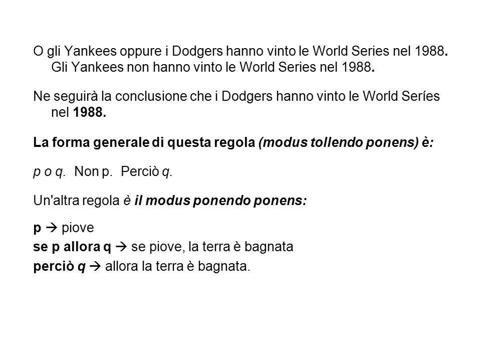 O gli Yankees oppure i Dodgers hanno vinto le World Series nel 1988