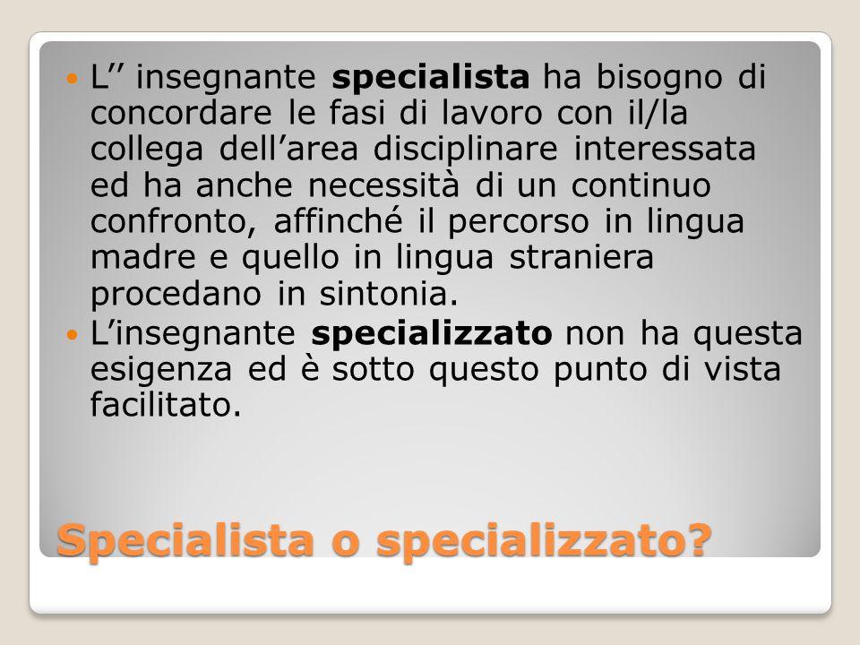 Specialista o specializzato