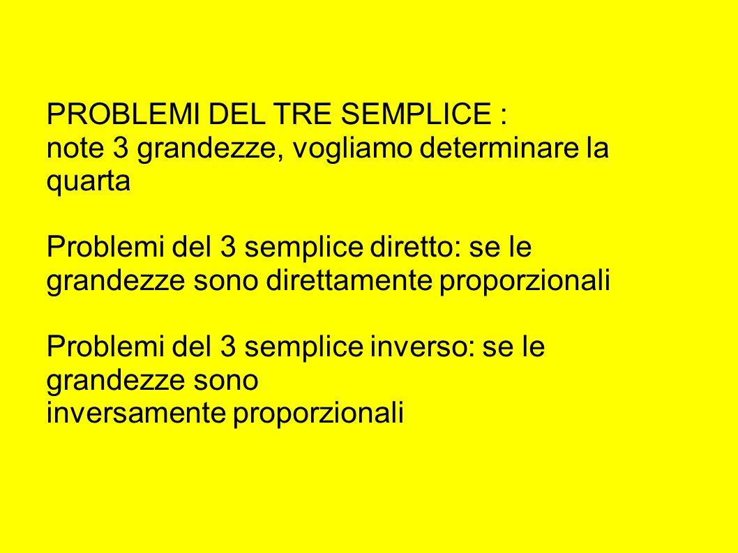 PROBLEMI DEL TRE SEMPLICE :